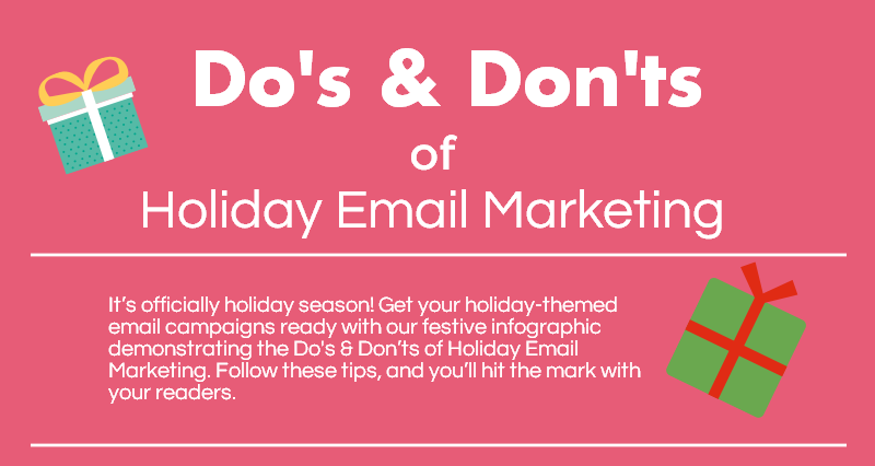 do s and don ts of holiday email marketing infographic