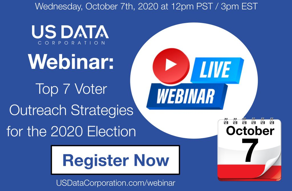 Webinar: Top 7 Voter Outreach Strategies for the 2020 Election